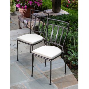 Randle Stacking Patio Dining Chair with Cushion (Set of 2)