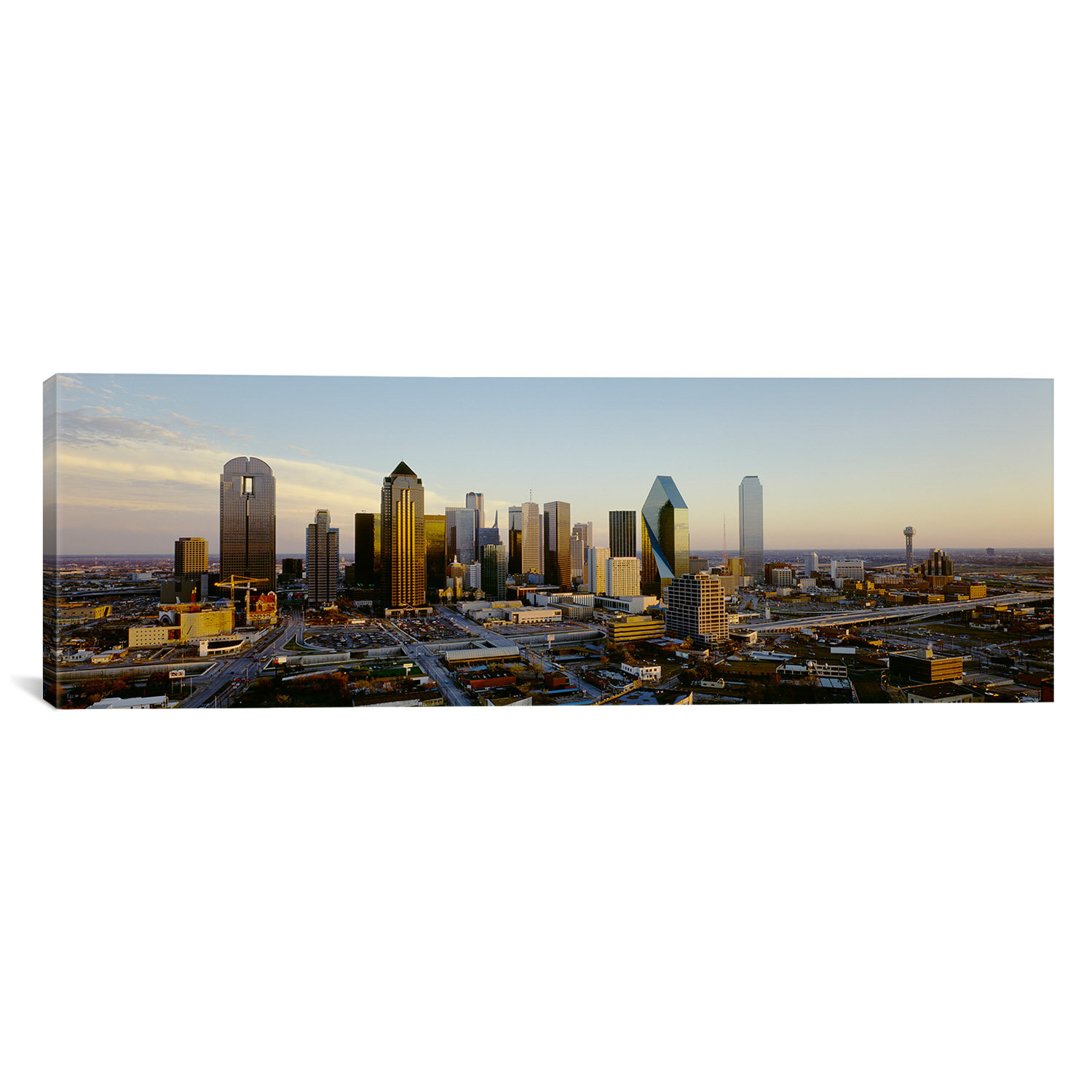 East Urban Home High Angle View Of Buildings In A City Dallas Texas Photographic Print On Canvas Wayfair