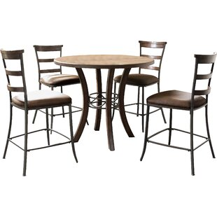 Red Barrel Studio Royalton 5 Piece Counter Height Dining Set