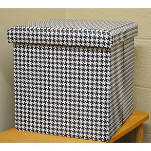 Liggins Houndstooth Small Storage Ottoman by Ebern Designs