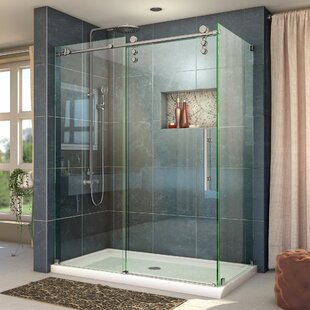 Enigma-Z 60.38 x 76 Single Sliding Frameless Shower Door with Clear Max Technology by DreamLine