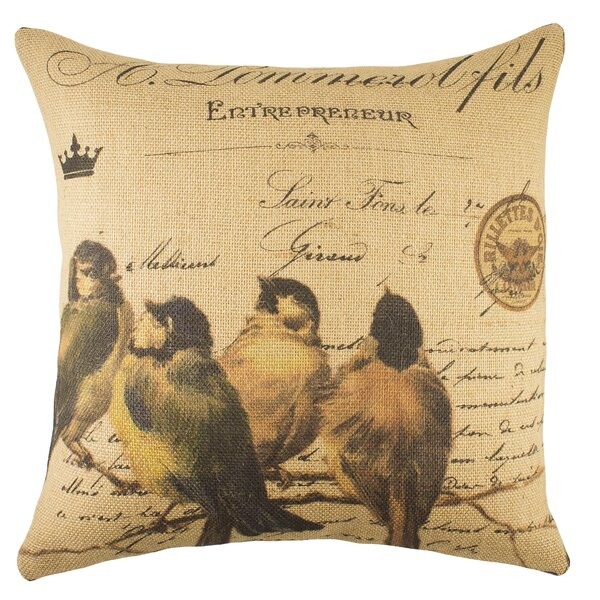 Thewatsonshop Birds On Branch Throw Pillow Wayfair