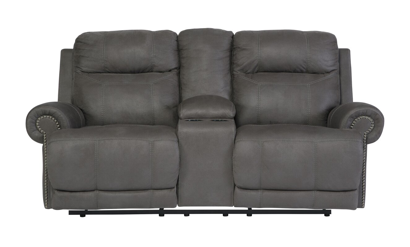 Culver Double Console Reclining Loveseat  sc 1 st  Wayfair & Red Barrel Studio Culver Double Console Reclining Loveseat ... islam-shia.org