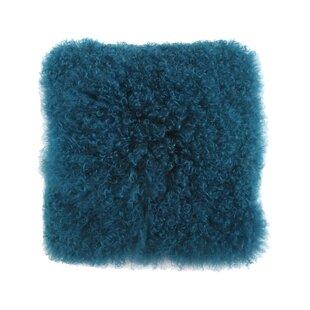 Elko Mongolian Lamb Fur Throw Pillow