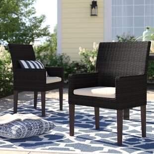 Stratford Patio Dining Chair with Cushion (Set of 2)