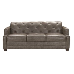 Basting Leather Sleeper Sofa by Darby Home Co