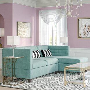 Mercer41 Sula Velveteen Fabric Chaise Sectional