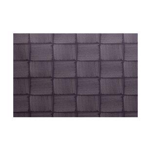 Uriaho Geometric Print Purple Indoor/Outdoor Area Rug