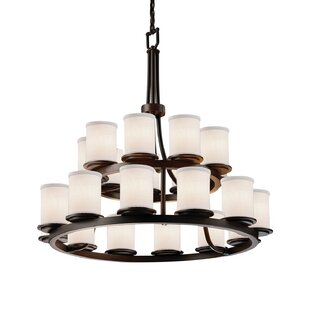 Red Hook 21 Light LED Cylinder w/ Flat Rim Candle Chandelier by Latitude Run
