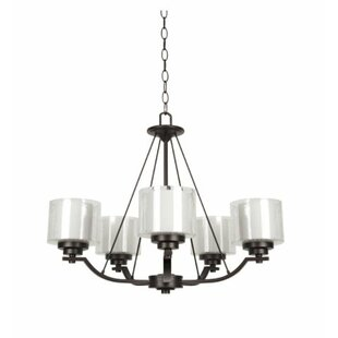 Winston Porter Woolridge 5-Light Shaded Chandelier