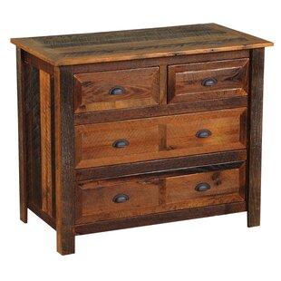 Fireside Lodge Premium Barnwood 4 Drawer Dresser