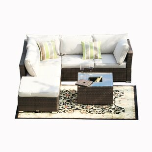Whitaker 5 Piece Sectional Seating Group with Cushions