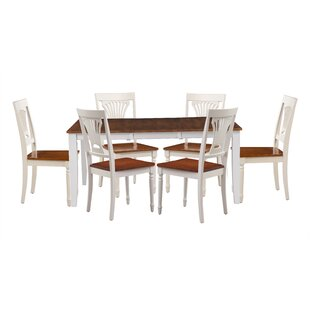 Breakwater Bay Wahl 7 Piece Extendable Solid Wood Dining Set