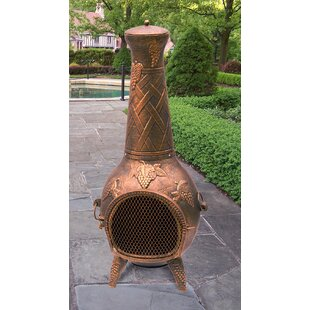 Grape Cast iron Wood Burning Chiminea by Oakland Living