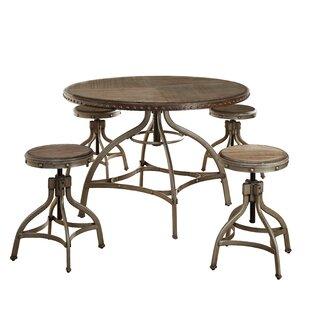 Adalgar 5 Piece Adjustable Dining Set