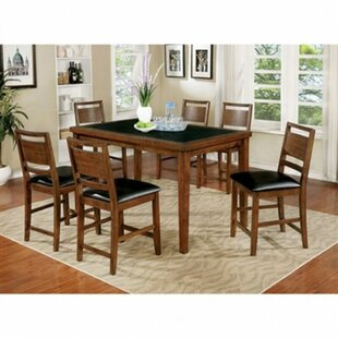 Esmeralda 7 Piece Solid Wood Dining Set