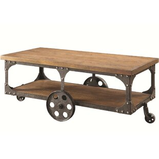 Bastien Industrial Solid Wooden Coffee Table