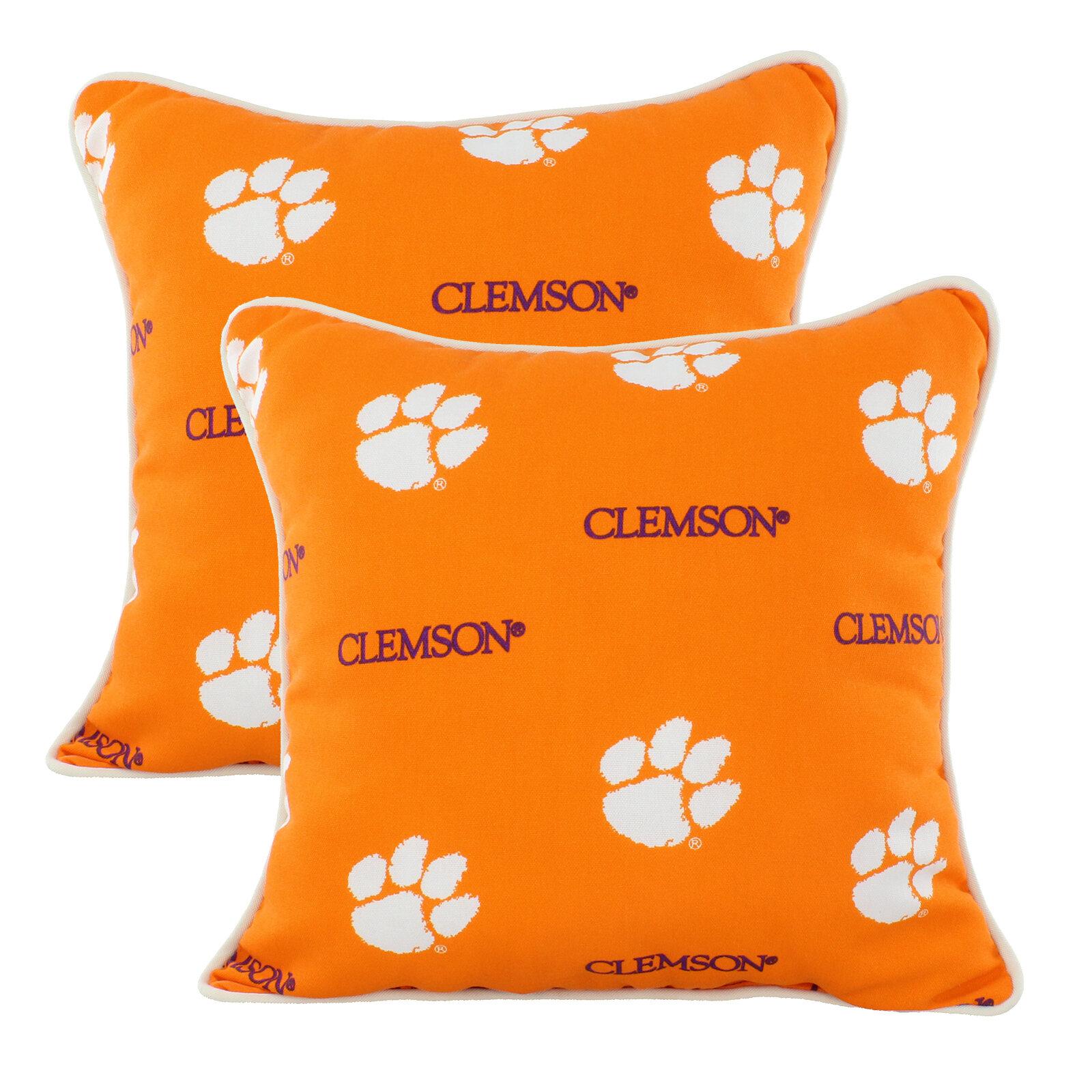 College Covers Kentucky Wildcats Outdoor Square Pillow Cover Insert Clemson Tigers Wayfair