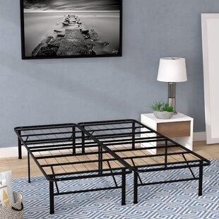 Innovative Bed Frame Foundation With Skirt & Brackets by Alwyn Home Herry Up