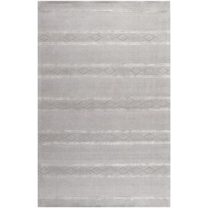 Soho Hand-Woven Wool Light Gray Area Rug