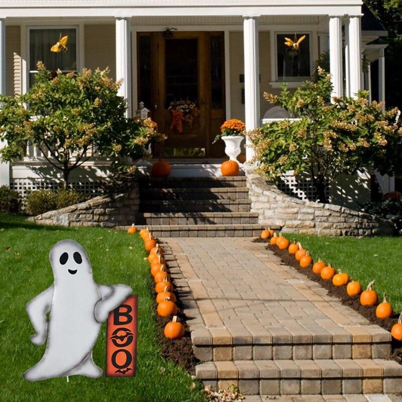 "Yard Art Window Display 20/"" Mini Halloween Decorations Outdoor LED Lighted BOO"