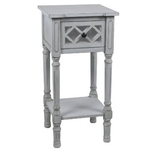 Savitha Mirror End Table by Ophelia & Co.