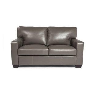 Hillcrest Leather Loveseat by Union Rustic Fresh