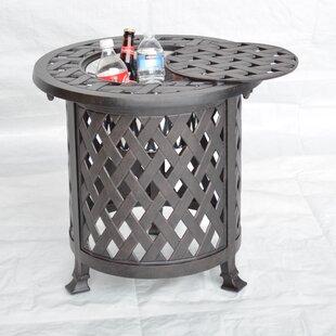 K&B Patio Nassau Side Table with Ice Bucket