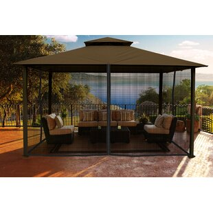 Paragon-Outdoor Madrid 10.5 Ft. W x 14.5 Ft. D Aluminum Patio Gazebo
