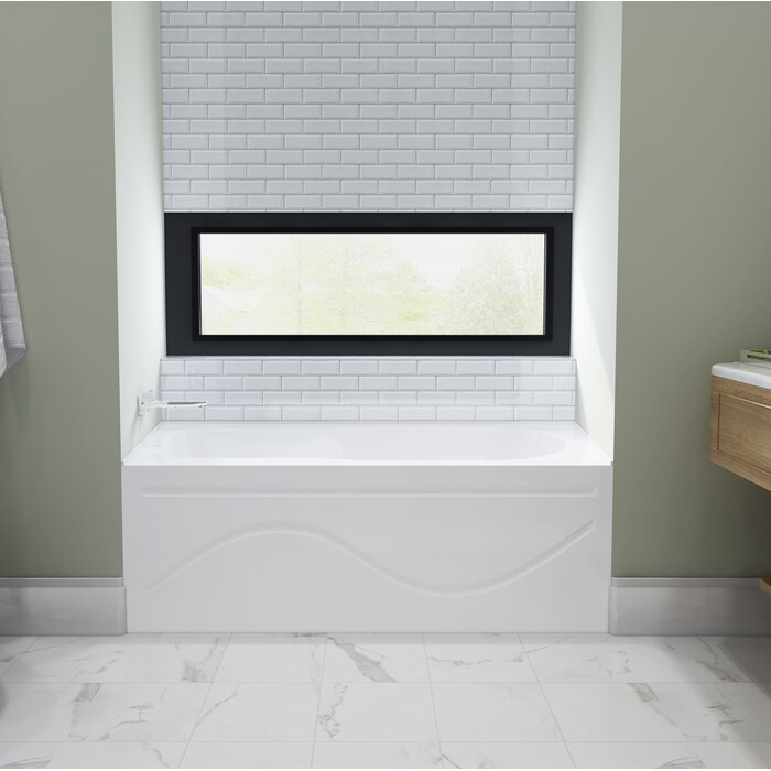 "kingston brass 60"" x 30"" alcove/tile in soaking bathtub | wayfair.ca"