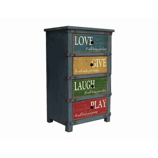 Rick Love Give Laugh Play Vintage 4 Drawer Accent Chest by Winston Porter