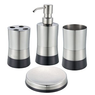 Searching for Irvin 4-Piece Bathroom Accessory Set By Wade Logan