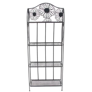 Etna Traditional Iron Floral Inspired 4-Tier Standard Baker's Rack by August Grove