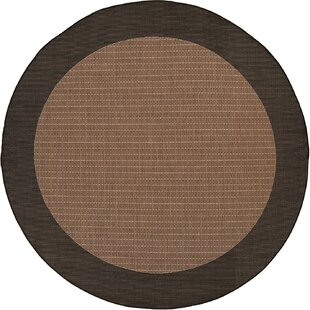 Halsey Checke Field Cocoa Flatweave Cocoa Indoor/Outdoor Area Rug by Alcott Hill