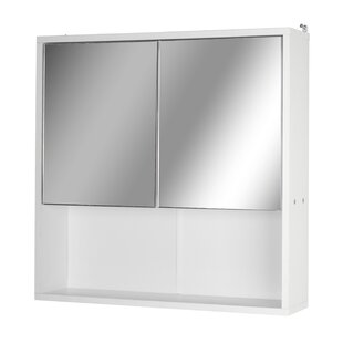 60cm X 60cm Surface Mount Mirror Cabinet By Symple Stuff