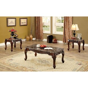 Redford Traditional 3 Piece Coffee Table Set