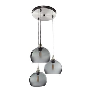 Chesterle Cascade 3-Light Cluster Pendant (Set of 3) by Wrought Studio