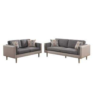 George Oliver Vargo 2 Piece Living Room Set
