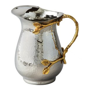Gilt Leaf Hammered 52 oz. Water Pitcher