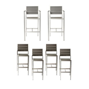 Ownby 6 Piece Patio Bar Stool Set