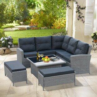 Nectar Sol 72 Outdoor 6 Seater Rattan Corner Sofa Set Image