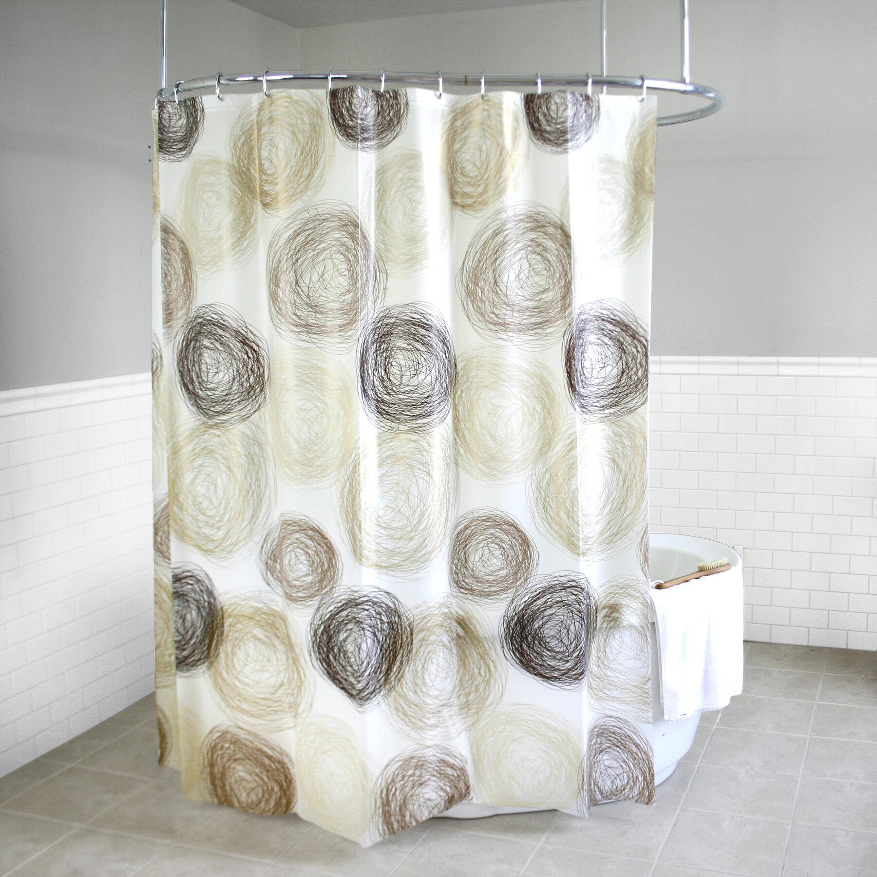 Ebern Designs Soren Peva 4g Coil Vinyl Single Shower Curtain Liner Wayfair