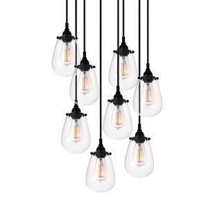 Lamson 8-Light Cascade Pendant by Trent Austin Design