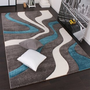 Cassiopeia Grey/Turquoise/White Rug by Longweave