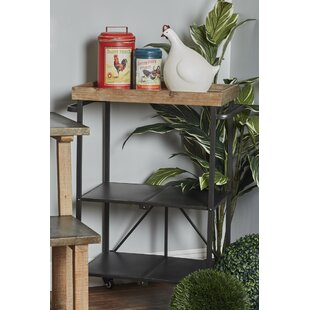 Janita Modern 3-Tiered Storage Bar Cart with Caster Wheels