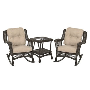 Dempster Outdoor Garden Bristo 3 Piece Seating Group with Cushions