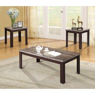 Alcott Hill Kellen 3 Piece Coffee Table Set