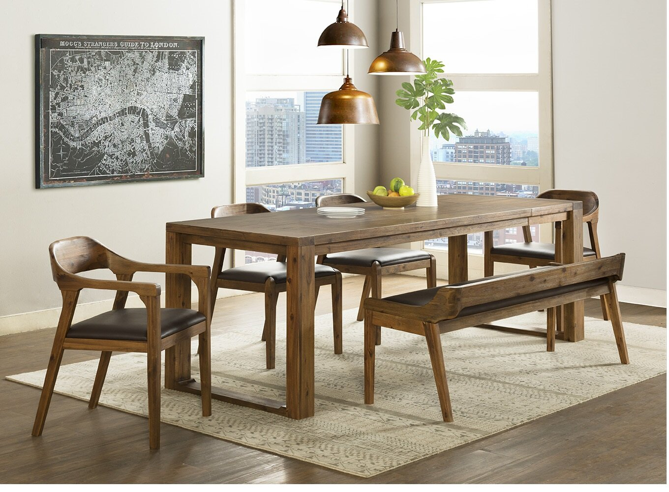 Foundry Select Bourgoin 6 Piece Drop Leaf Solid Wood Dining Set Reviews Wayfair