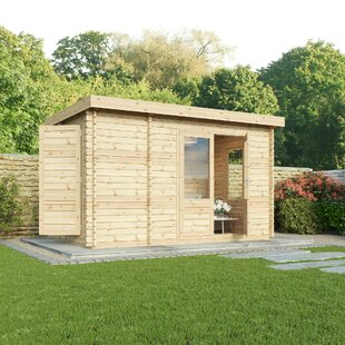 Ashmount 12 X 8 Ft. Tongue And Groove Log Cabin By Sol 72 Outdoor
