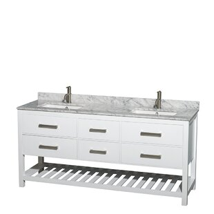 Buy clear Natalie 72 Double Bathroom Vanity Set ByWyndham Collection